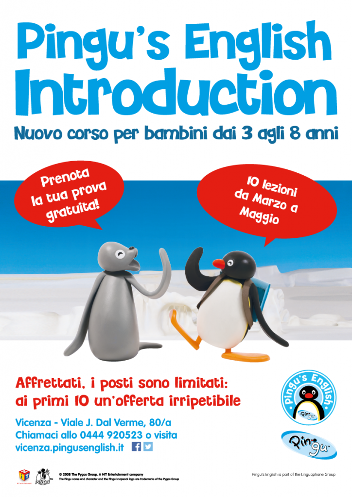"Corso di inglese per bambini ""Pingu's English Introduction"""